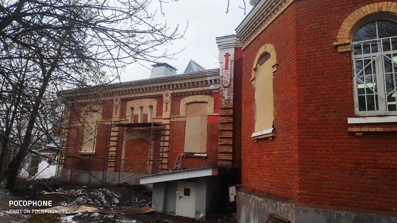 """Реставрационная очистка фасада под """"лофт"""""""