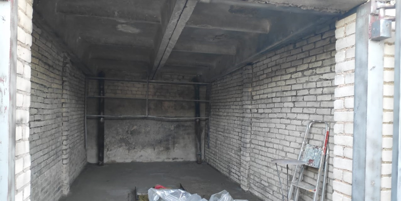 Очистка гаража после пожара
