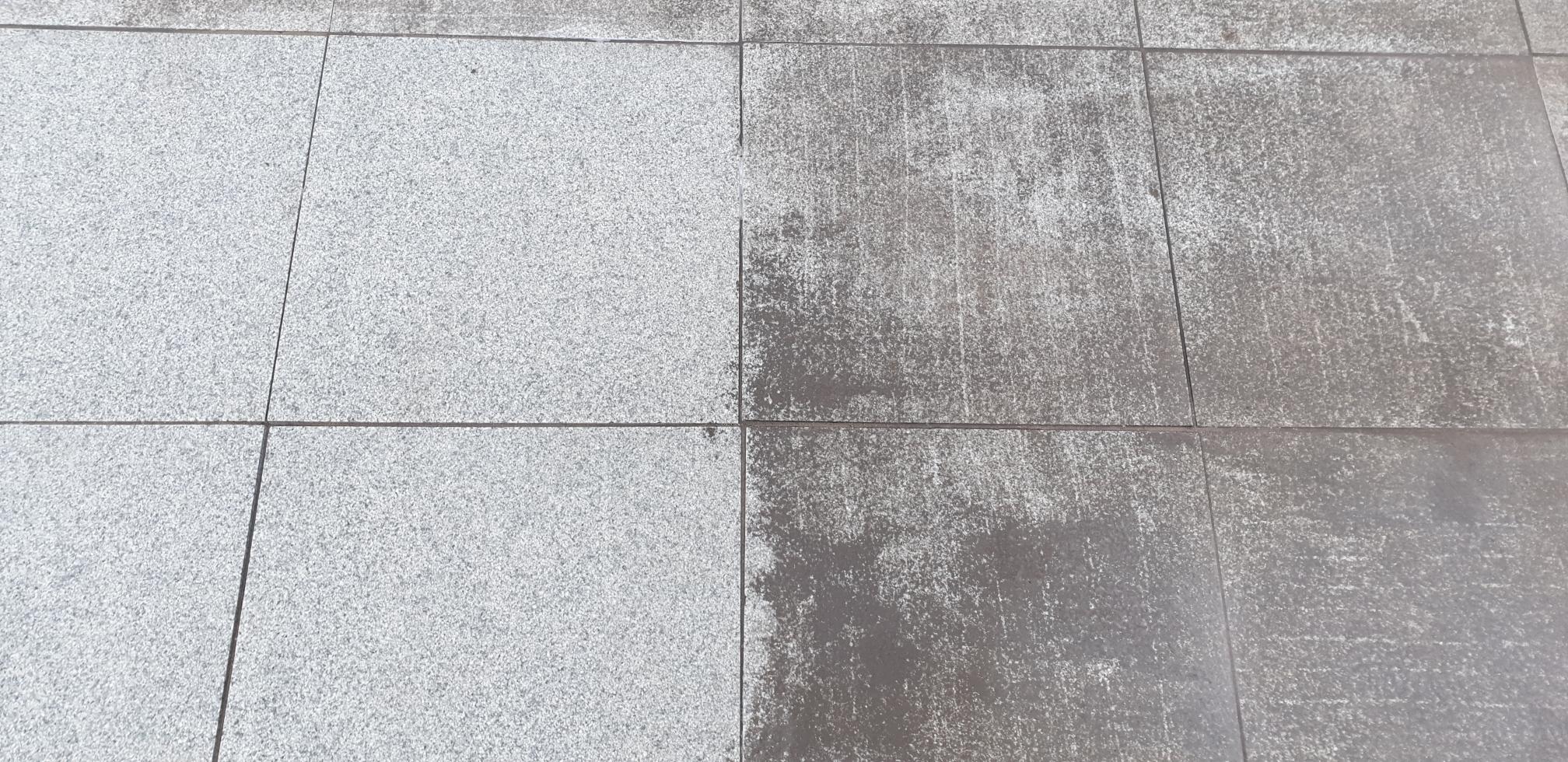 Очистка гранитного камня от цементного раствора