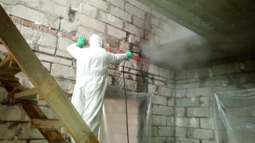 Очистка дома из пеноблоков после пожара