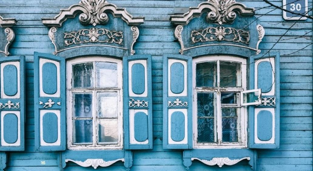 Очистка от краски старых домов